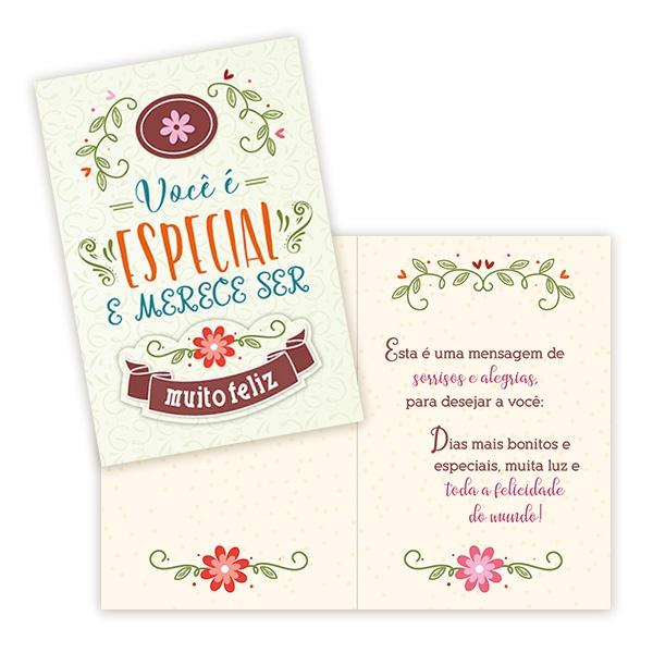 Cartão Você Merece Ser Feliz