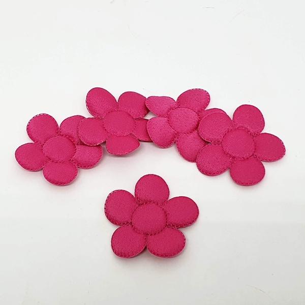 Aplique Flor M Cetim Pink (pacote com 5 unidades) ... - BOUTIQUEDASRENDAS