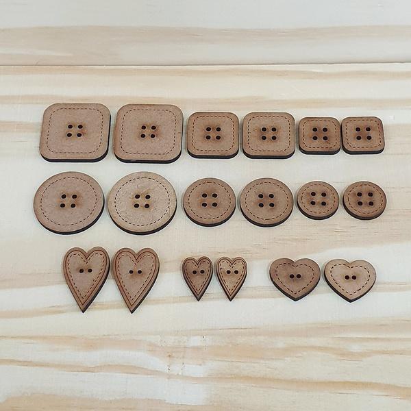 Botões MDF Coleção Basiquinhos - BT-02 - BOUTIQUEDASRENDAS