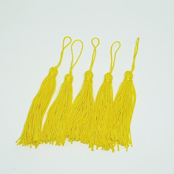 Tassel Cetim 7,5 cm - Amarelo (pcte com 5 unidades... - BOUTIQUEDASRENDAS