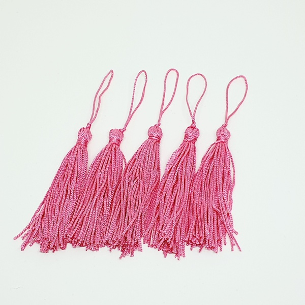 Tassel Cetim 7,5 cm - Pink (pcte com 5 unidades) -... - BOUTIQUEDASRENDAS