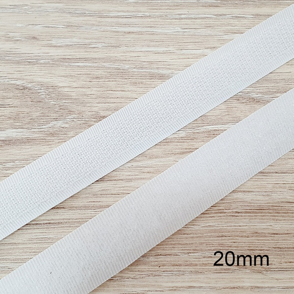 Velcro de costura branco 20mm - (metro) - FC002-02 - BOUTIQUEDASRENDAS