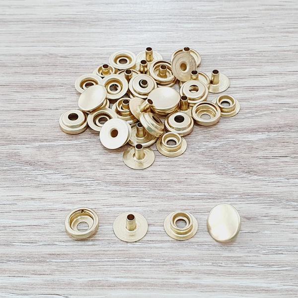 Botão de pressão /80 metal - Dourado - BOT-80-DOU - BOUTIQUEDASRENDAS