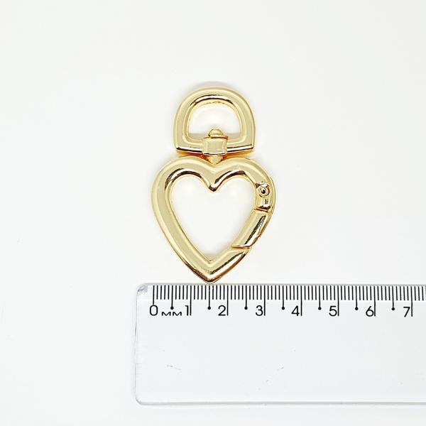 Argola articulada de coração GR - Dourada - ARG-CO... - BOUTIQUEDASRENDAS