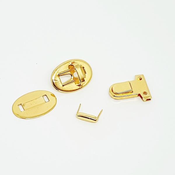 Fecho tic tac retangular Dourado (unidade) - FTT01... - BOUTIQUEDASRENDAS