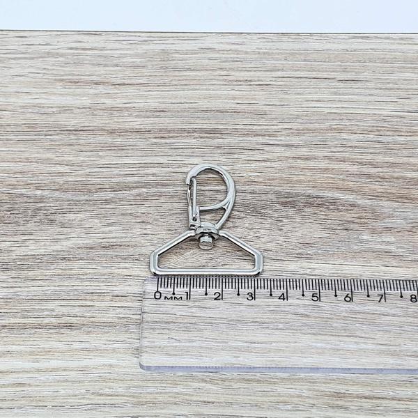 Mosquetão 30 mm - Niquelado - MOSQ-NIQ-3 - BOUTIQUEDASRENDAS