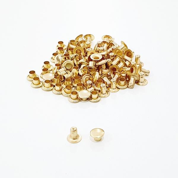 Rebite simples n° 2 - Dourado - REB2-DOU - BOUTIQUEDASRENDAS