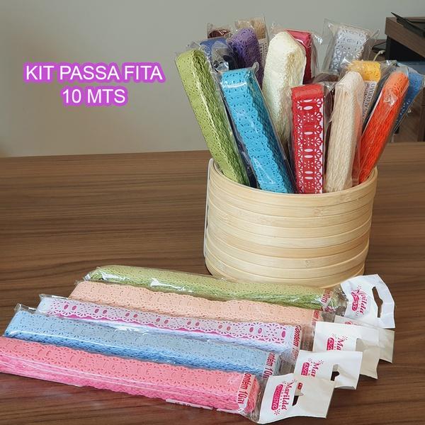Kit Passa Fita Crochê 34 (23 cores) - (pacte de 10... - BOUTIQUEDASRENDAS