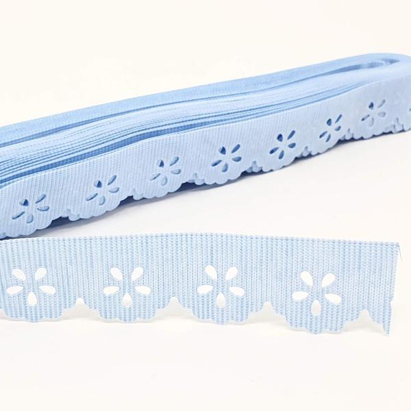 Mini Lasynha 01 cor lisa - Azul claro - 01-202 - BOUTIQUEDASRENDAS