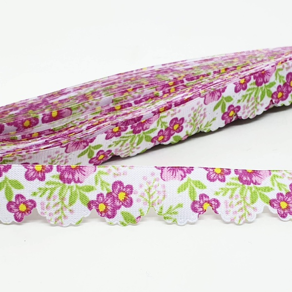 Mini Lasynha 91 estampada - Floral rosa - 91-984 - BOUTIQUEDASRENDAS