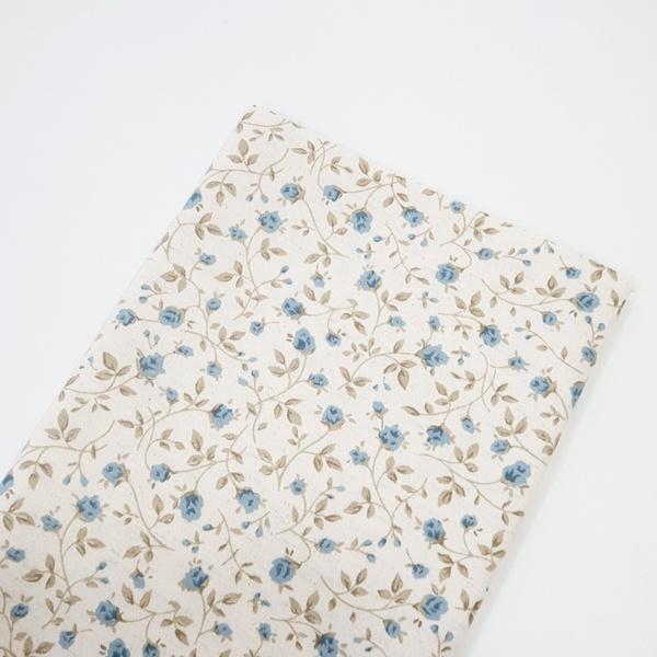 Tecido Linho Misto Estampado - Floral Azul miúdo -... - BOUTIQUEDASRENDAS