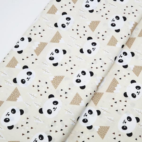 Tecido Tricoline Panda - Bege - 482-55-V1 - BOUTIQUEDASRENDAS