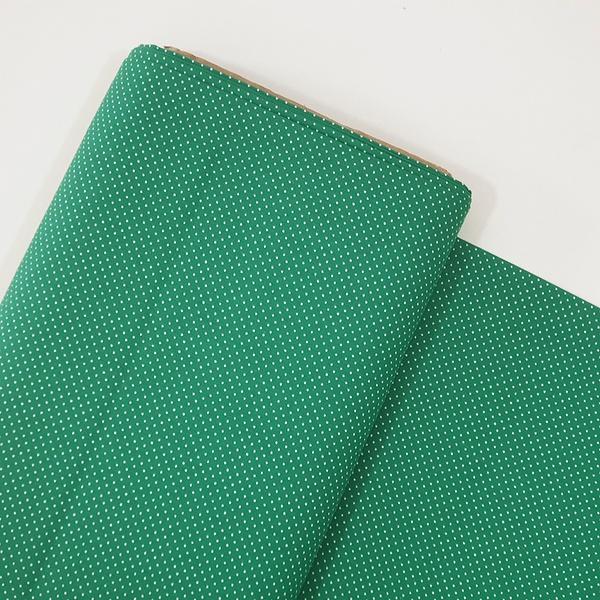 Tecido Tricoline 100% algodão Micro Poá - Verde Fo... - BOUTIQUEDASRENDAS