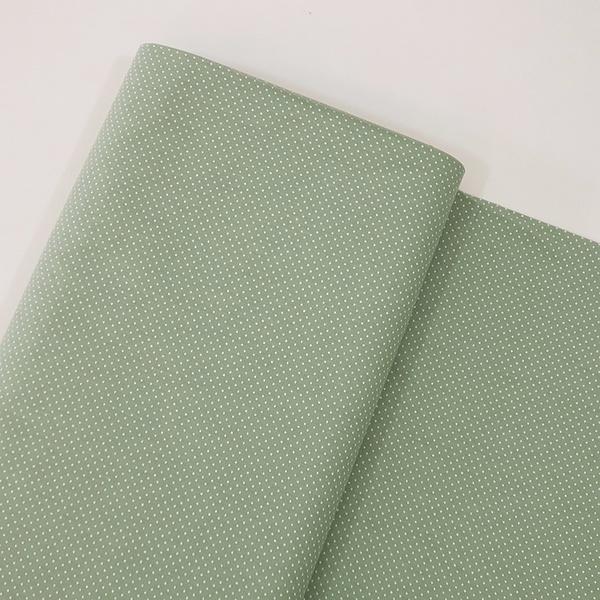 Tecido Tricoline 100% algodão Micro Poá - Verde Mi... - BOUTIQUEDASRENDAS
