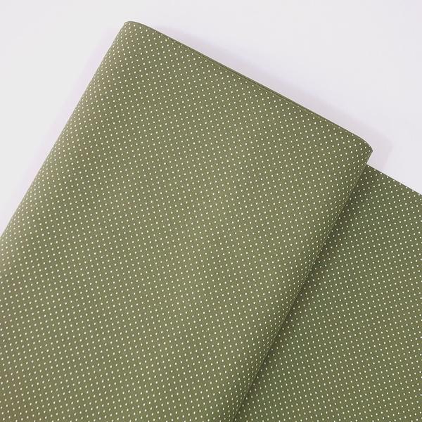 Tecido Tricoline 100% algodão Micro Poá - Verde Ol... - BOUTIQUEDASRENDAS