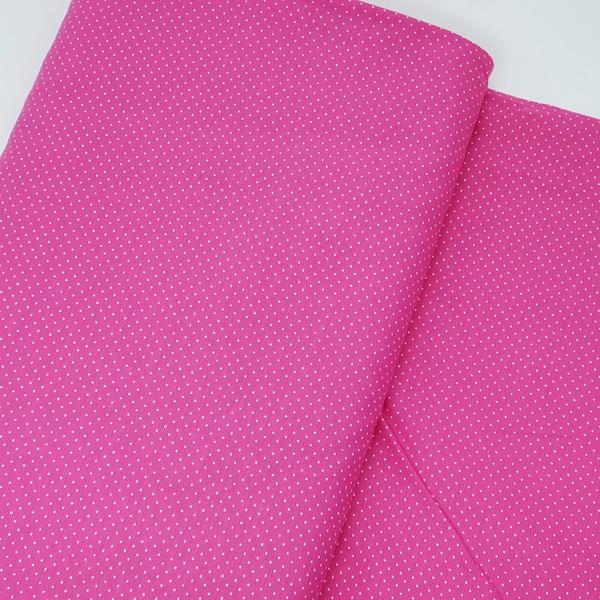 Tecido Tricoline Micro Poá - Pink - 305-031-V15 - BOUTIQUEDASRENDAS