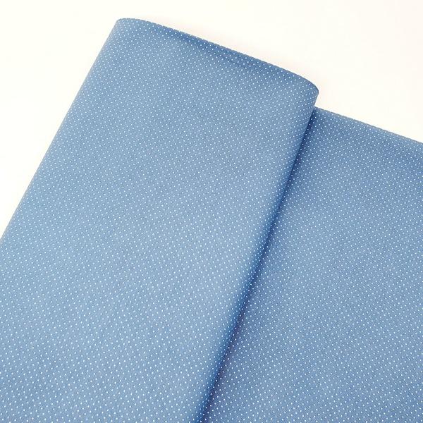 Tecido Tricoline Micro Poá - Jeans - 305-276-V029 - BOUTIQUEDASRENDAS
