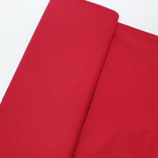 Tecido Tricoline Micro Poá - Vermelho - 305-021-V1... - BOUTIQUEDASRENDAS