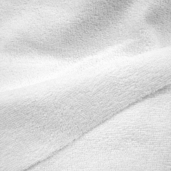 Tecido felpudo ou atoalhado branco - 9983 - BOUTIQUEDASRENDAS