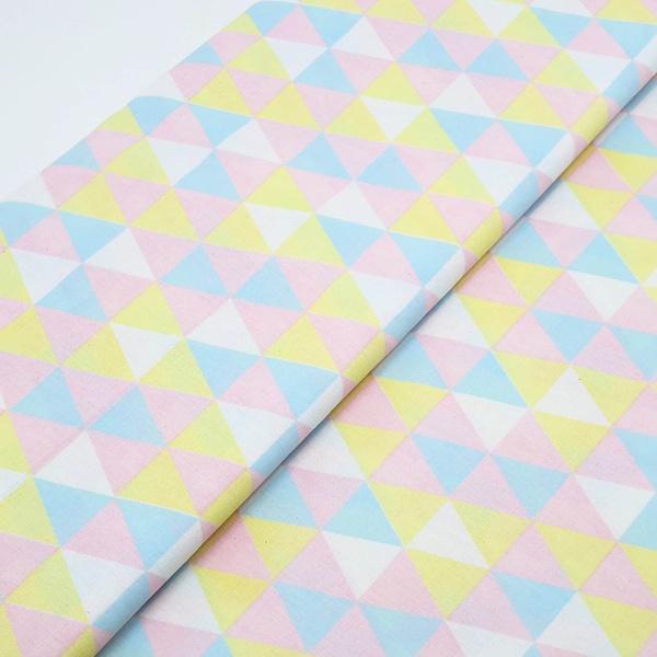 Tecido Triângulo Candy Color - TECGEOM - BOUTIQUEDASRENDAS