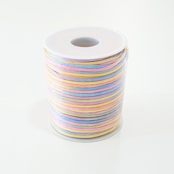 Cordão de Cetim 2mm - Candy Color (rolo com 50 met... - BOUTIQUEDASRENDAS