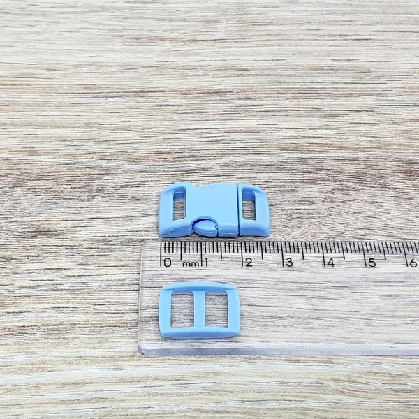 Fecho de engate rápido plástico 10mm - AZUL CLARO ... - BOUTIQUEDASRENDAS