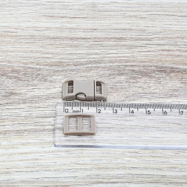 Fecho de engate rápido plástico 10mm - BEGE (10 un... - BOUTIQUEDASRENDAS
