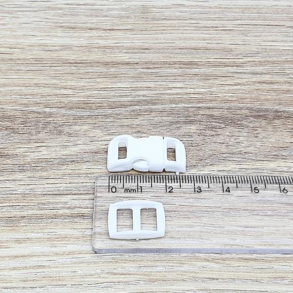 Fecho de engate rápido plástico 10mm - BRANCO (10 ... - BOUTIQUEDASRENDAS