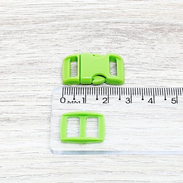 Fecho de engate rápido plástico 10mm - VERDE (10 u... - BOUTIQUEDASRENDAS