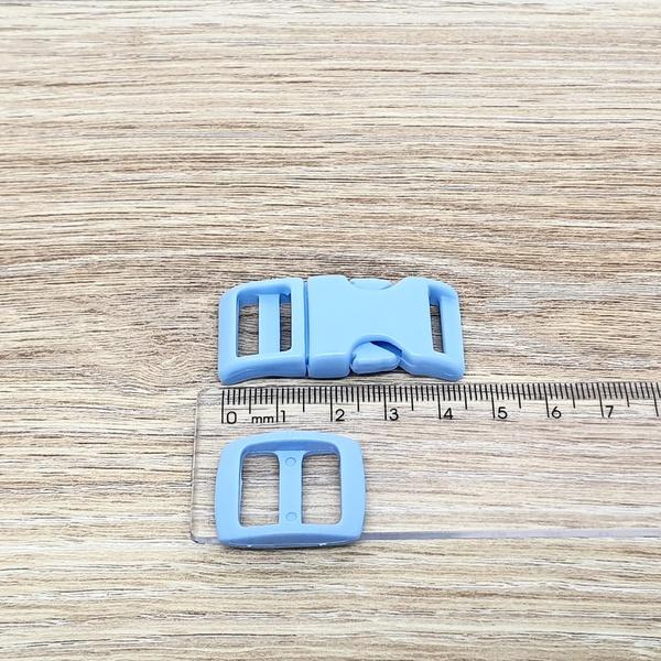 Fecho de engate rápido plástico 15mm - AZUL CLARO ... - BOUTIQUEDASRENDAS