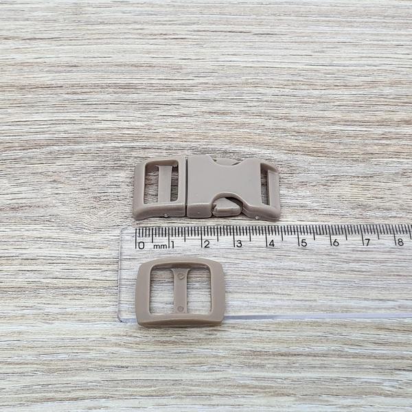 Fecho de engate rápido plástico 15mm - BEGE (10 un... - BOUTIQUEDASRENDAS