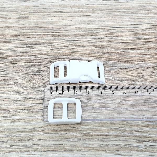 Fecho de engate rápido plástico 15mm - BRANCO (10 ... - BOUTIQUEDASRENDAS