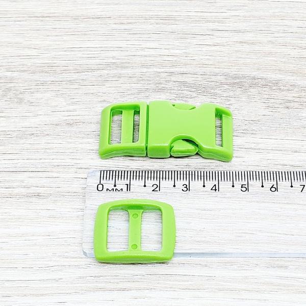 Fecho de engate rápido plástico 15mm - VERDE (10 u... - BOUTIQUEDASRENDAS