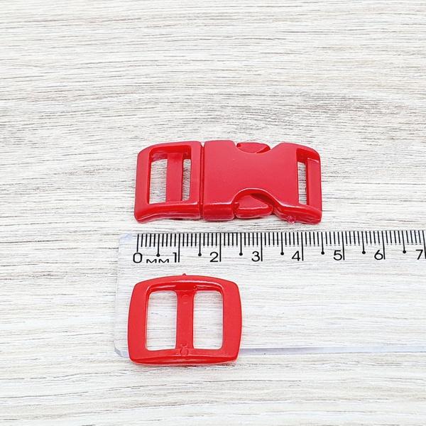 Fecho de engate rápido plástico 15mm - VERMELHO (1... - BOUTIQUEDASRENDAS
