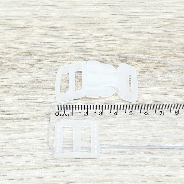 Fecho de engate rápido plástico 20mm - TRANSPARENT... - BOUTIQUEDASRENDAS