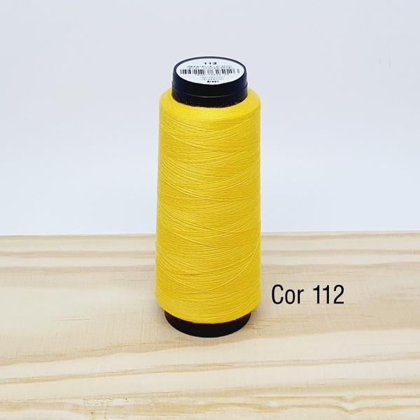 Linha para costura Resistente 2000j - cor 112 (ama... - BOUTIQUEDASRENDAS