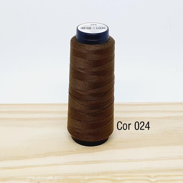 Linha para costura Resistente 2000j - cor 024 (caf... - BOUTIQUEDASRENDAS