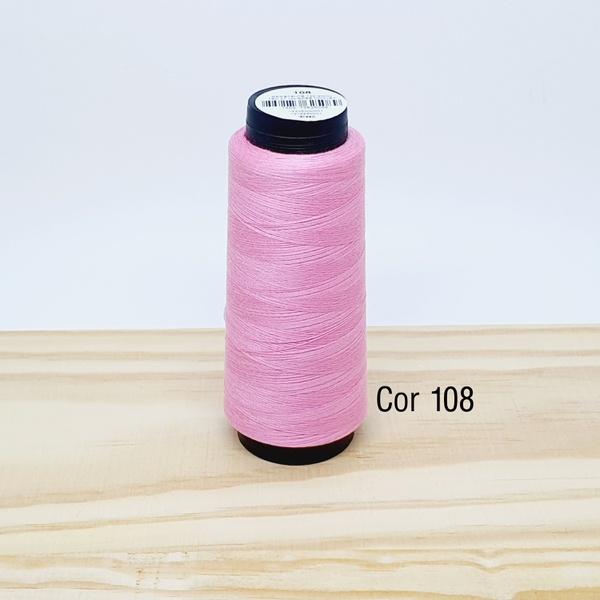 Linha para costura Resistente 2000j - cor 108 (ros... - BOUTIQUEDASRENDAS
