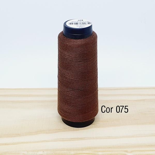 Linha para costura Resistente 2000j - cor 075 (mar... - BOUTIQUEDASRENDAS