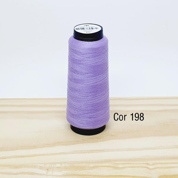 Linha para costura Resistente 2000j - cor 198 (lil... - BOUTIQUEDASRENDAS