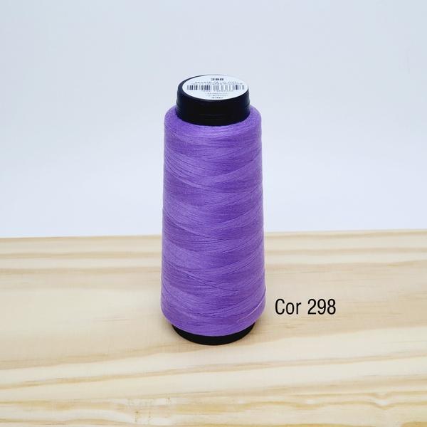 Linha para costura Resistente 2000j - cor 298 (lil... - BOUTIQUEDASRENDAS
