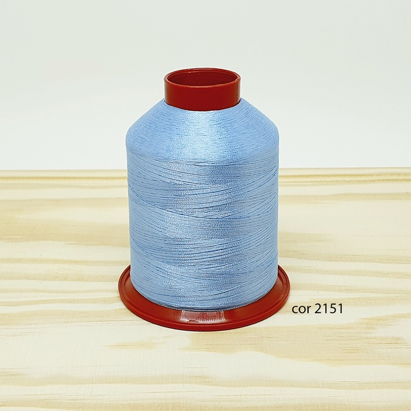 Linha para bordar Ricamare 4000mt - cor 2151 (azul... - BOUTIQUEDASRENDAS
