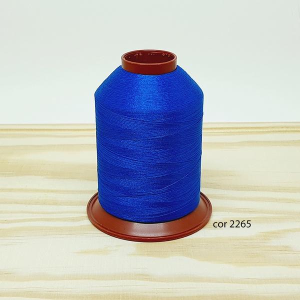 Linha para bordar Ricamare 4000mt - cor 2265 (azul... - BOUTIQUEDASRENDAS