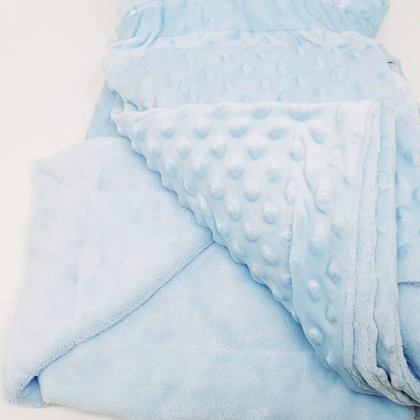 Manta cobertor de plush Sweet Baby de bolinha - Az... - BOUTIQUEDASRENDAS