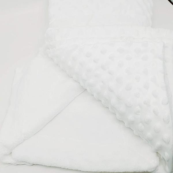 Manta cobertor de plush Sweet Baby de bolinha - Br... - BOUTIQUEDASRENDAS
