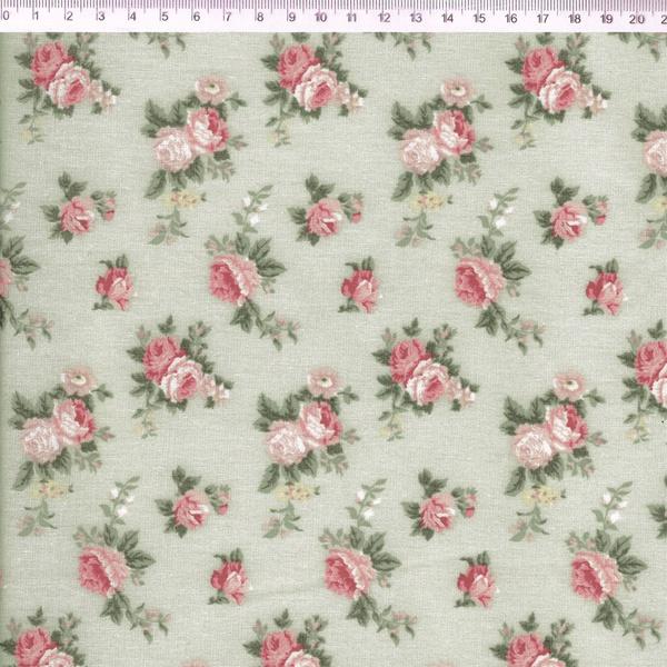 Tecido Tricoline Floral PQ Verde - (0,50cm x 1,50m... - BOUTIQUEDASRENDAS