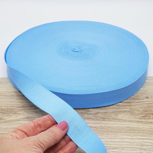 Viés Boneon 25mm - Azul bebê (rolo com 100 metros)... - BOUTIQUEDASRENDAS