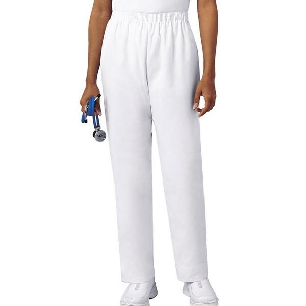 Calça Feminina Branca em Gabardine - Pijama Cirúrgico