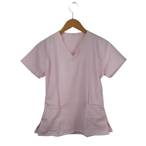 Camisa Scrub Pijama Cirúrgico Rosa Bebê