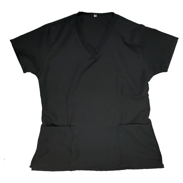 Camisa Scrub Basic Pijama Cirúrgico Preta